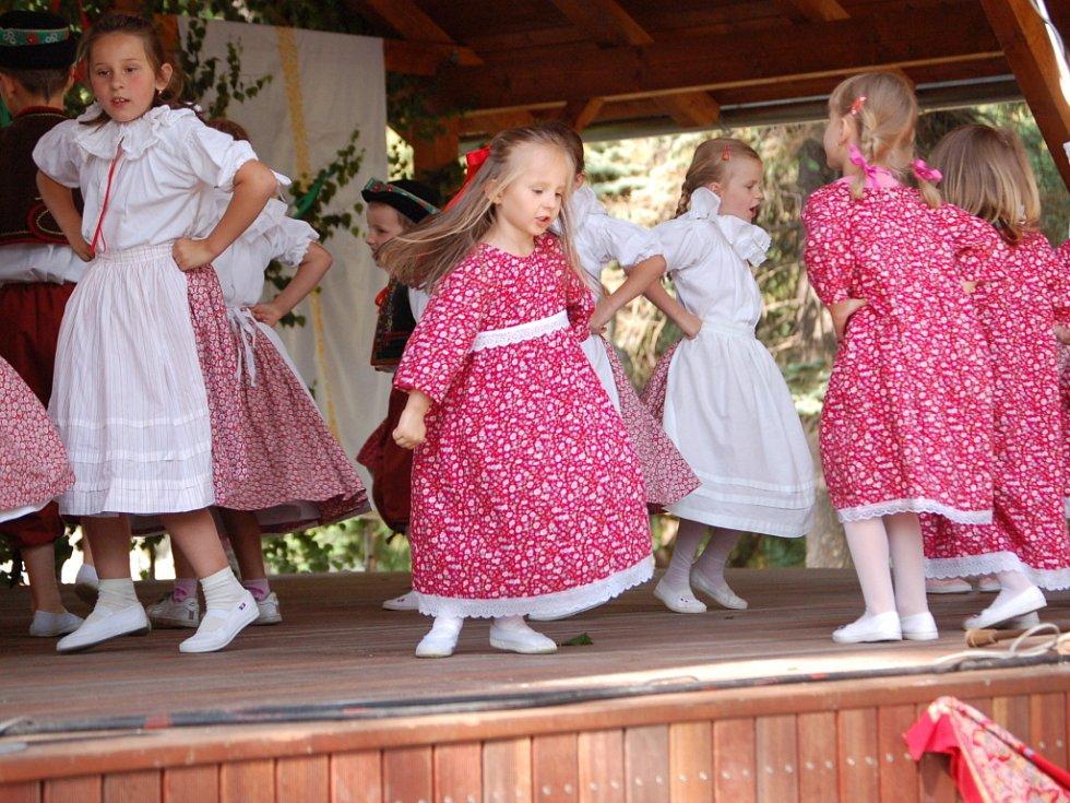 Na folklorní prehlídce mohli návštěvníci obdivovat nejen umění tanečníků, ale také bohatost krojů.