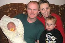 Dominik Valenta, Žákovice, narozen 1. dubna 2010 v Přerově, míra 51cm, váha 3 870g