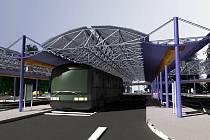Studie rekonstrukce autobusového nádraží v Hranicích z roku 2008