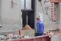 Z doby výstavby azylového domu ve Slavíči