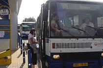 Autobusové nádraží v Přerově.
