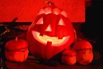 Halloweenská výzdoba.