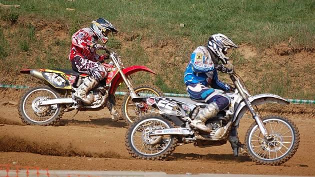 Z vítězství se v kategorii MX2 radoval Tomáš Dokoupil z Olomouce. Ilustrační foto.