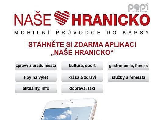 Mobilní aplikace Naše Hranicko. Ilustrační foto.