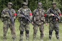 Hraničtí hráči airosoftu, kteří bojovali ve Švédsku.