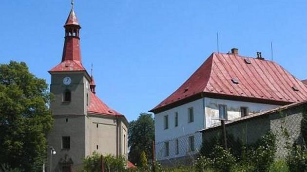 Farní kostel v Bělotíně.