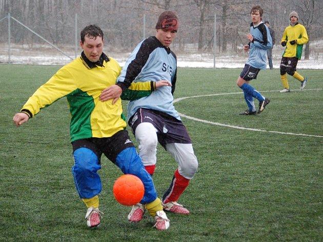 Kombinovaný tým Želatovic nestačil na muže Újezdce a prohrál 1:3.