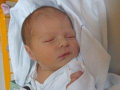 Rostislav Hegar, Hranice, narozen dne 9. listopadu 2015 v Novém Jičíně, míra: 48 cm, váha: 3004 g