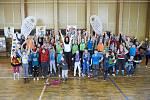 ZŠ a MŠ Soběchleby dostala trénink s českými olympioničkami Šárkou Kašpárkovou a Ivetou Vacenovskou jako odměnu za svou aktivitu v projektu Sazka Olympijský víceboj