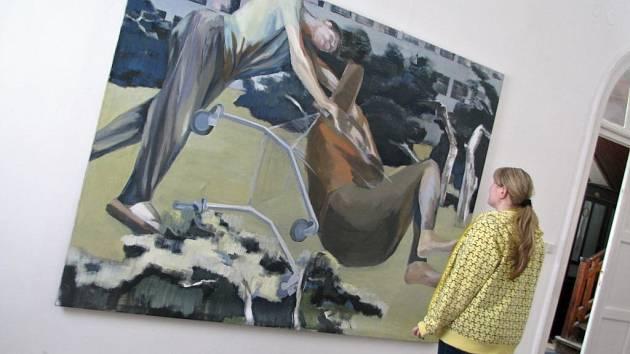 Výstava obrazů známého ostravského výtvarníka Daniela Balabána v Hranicích