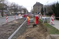 Rekostrukce Čechovy ulice v Přerově potrvá až do konce listopadu.
