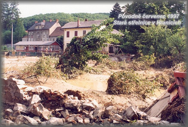 Povodeň včervenci 1997napáchala ohromné škody vHranicích a řadě dalších obcí.