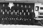 Historický snímek pochází patrně z období první republiky a zachycuje tehdejší členy Sboru dobrovolných hasičů Hluzov.