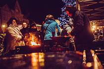 Vánoční jarmark na Masarykově náměstí v Hranicích v roce 2016