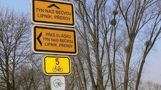 Cyklostezka Bečva mezi Hranicemi a Lipníkem