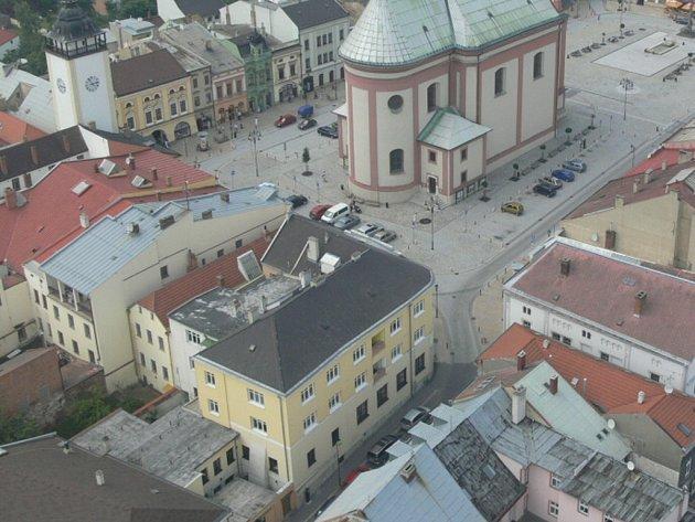 Historické centrum Hranic. Ilustrační foto.