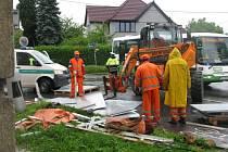 Nehoda na křižovatce mezi Nádražní ulicí a třídou 1. máje v Hranicích