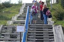 Schody k CTParku v Hranicích