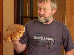 Jaroslav Vančura našel pravý hřib o váze šesti set gramů.