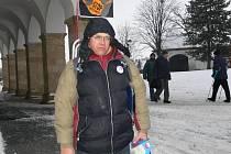 Protest proti amnestii prezidenta se v Hranicích setkal s chladnou odezvou veřejnosti