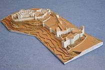 Hrad Helfštýn se pod rukama zmenšil na velikost 1,2 krát 0,7 metru.