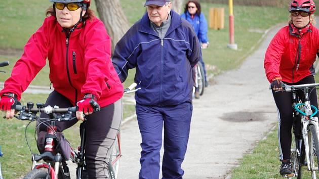 Přerované zahájili cyklistickou sezonu akcí s názvem Prvníšlápnutí.