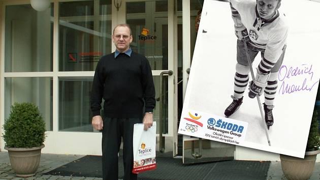 Oldřich Macháč, bývalý hokejový reprezentant.