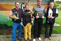 Nejúspěšnější golfisté mistrovství GC Radíkov 2020. Matouš Sedlář (druhý zleva)