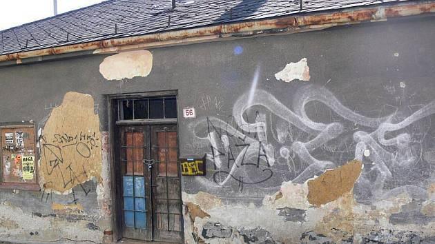 Ruina v hranické ulici Na Náspech