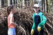 Úklid ZŠ 1. máje Hranice v lese poblíž Opatovic