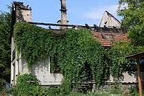 Požár střechy v Malhoticích