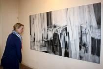 Výstava obrazů Miroslava Štolfy v hranické Synagoze.