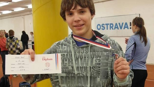 Úspěšný talent hranické atletiky Pavel Gadas