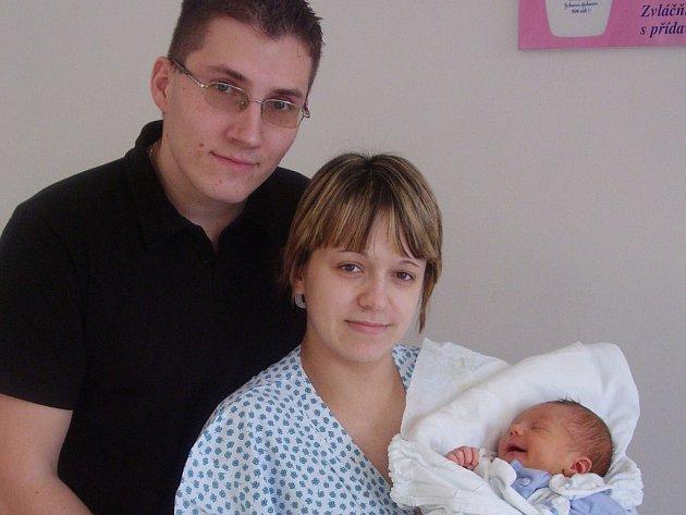 Monika Řádková, Tovačov, syn Michal Havelka, narozen 22. 1. v Přerově, váha 3, 34 kg