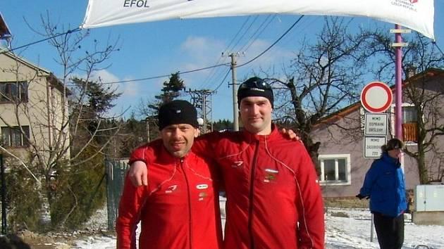 Ladislav Gočaltovský (vlevo) skončil sedmý a Michal Malík doběhl celkově dvanáctý.