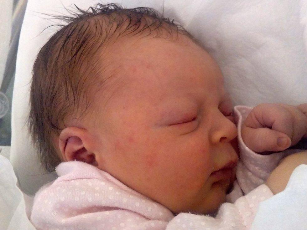 Eliška Brázdová, Troubky, narozena dne 29. srpna 2016 v Přerově, míra: 47 cm, váha: 2960 g