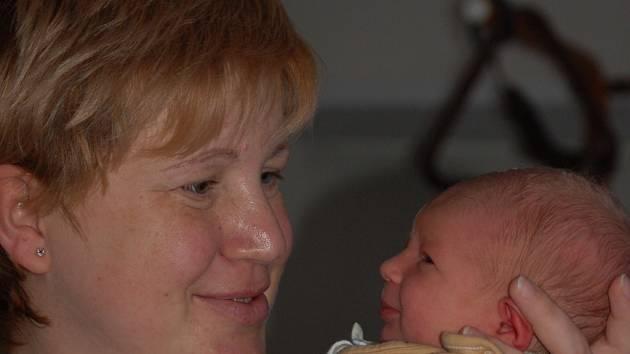 Jonatan Kouba, narozen 9. 1. 2008 v Přerově, váha 3230 g, Přerov