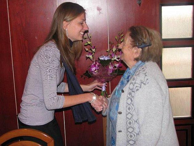 Milada Pospíšilová ze Všechovic při oslavě 100. narozenin