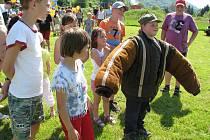 Den dětí plný her a soutěží si užily děti v neděli odpoledne Na Střelnici.