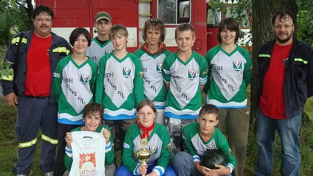 Mladí hasiči ze Stříteže nad Ludinou mají za sebou již několik závodů.
