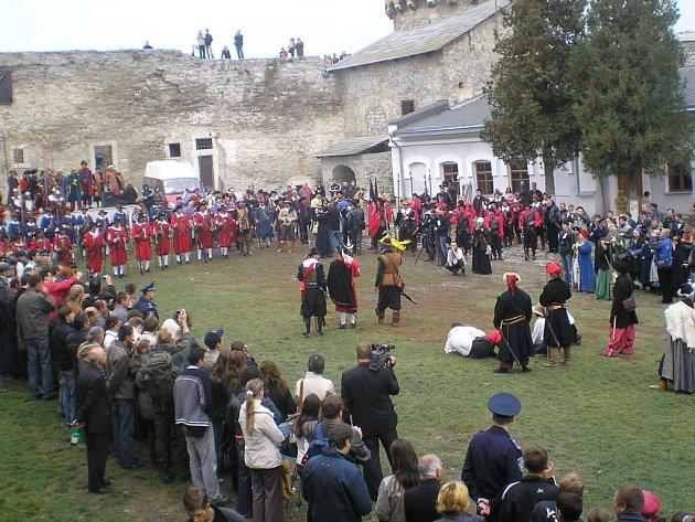 Na snímku turecká pevnost, v níž se během festivalu odehrála rekonstrukce bitvy.