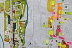 Nová podoba třídy 1. máje v Hranicích. Práce studentů brněnské architektury jsou.k vidění ve dvoraně zámku