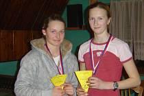 Miroslava Menšíková (vpravo) skončila třetí.