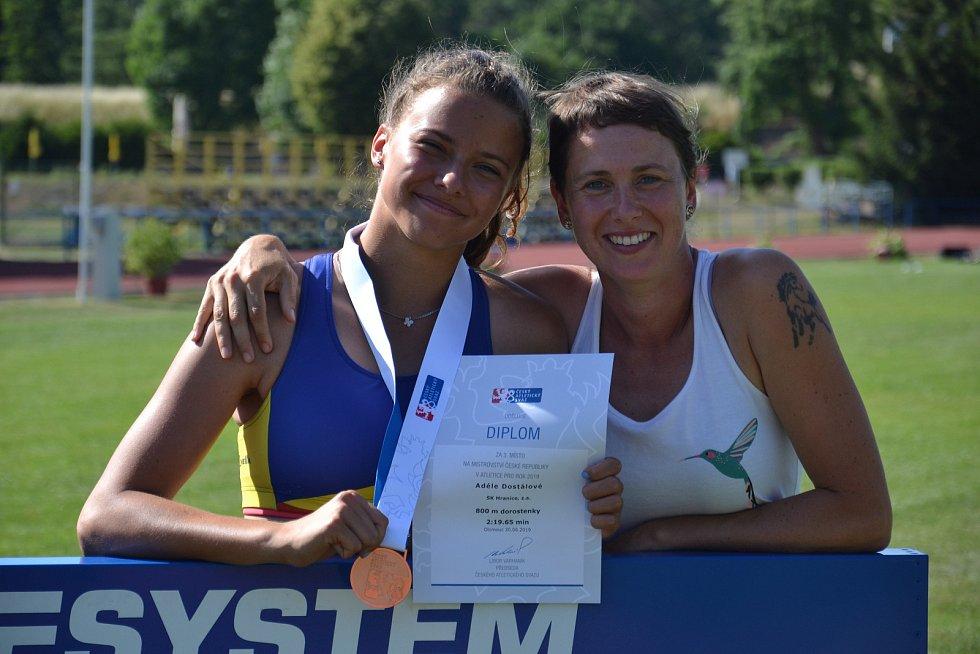 Adéla Dostálová bronzová na Mistrovství ČR v běhu na 800 m.