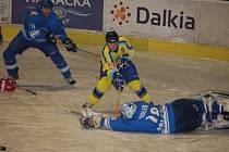 Marek Ditrich se několikrát dostal až před hostujícího gólmana Michala Holeše, ale překonat se mu ho nepodařilo.