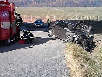 Nehoda u Milenova na Hranicku