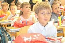 První školní den prvňáčků v Hranicích