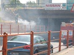 Jedním z míst, kde hasiči zasahovali, byl podjezd v Předmostí.
