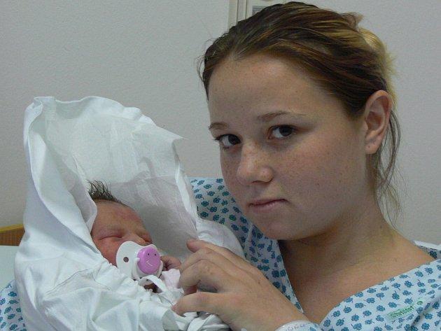 Marcela Wisińská, Přerov, dcera Vendula Wisińská, narozena 6. 11. 2007 v Přerově, váha: 3,30 kg