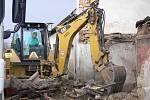 Zřícení části domu v Drahotuších